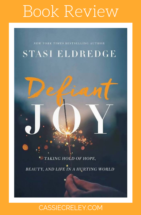 Book Review Defiant Joy— Those of us with chronic illnesses and pain will find an empathetic soul in Stasi Eldredge in her book Defiant Joy, which explores the beauty and difficulty of finding joy, from a Christian perspective. There is so much brokenness and sorrow in the world, it almost seems like joy isn't possible. But the good news is—it is! This book revels in just how much joy there is available for us in Christ. | cassiecreley.com