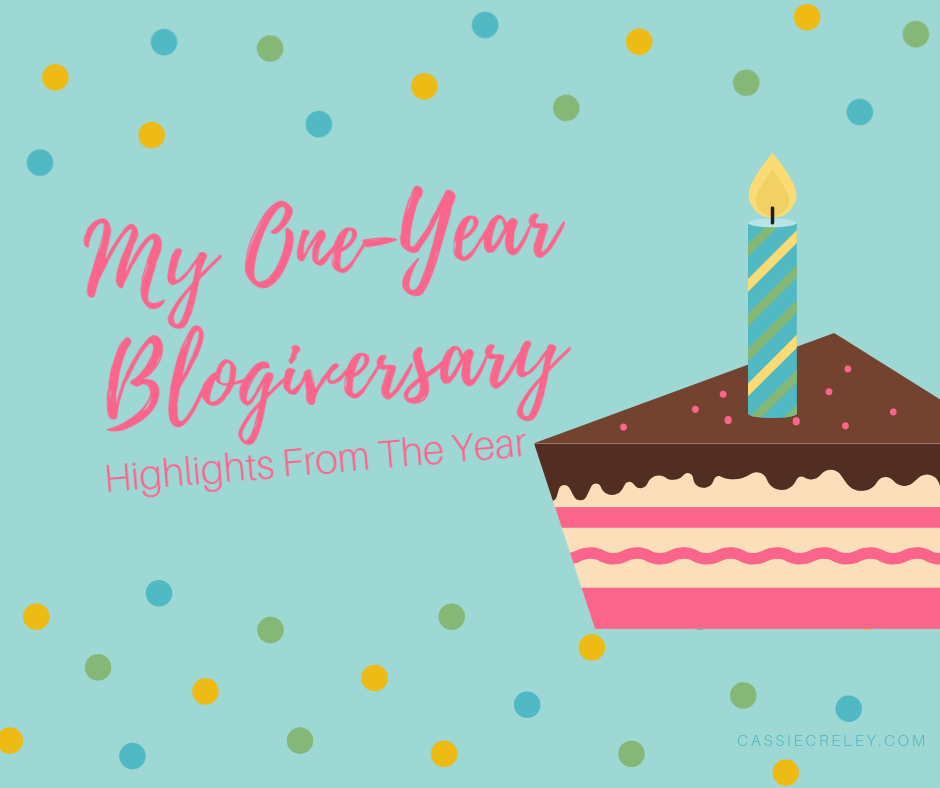 My One-Year Blogiversary—Highlights From The Year. A look back at my most popular posts and other blogging milestones as well as thoughts on how blogging creates valuable community.   cassiecreley.com